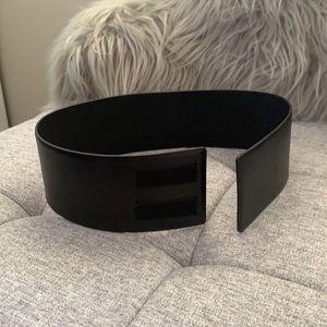 Plein Sud wide Italian leather Velcro belt size XS